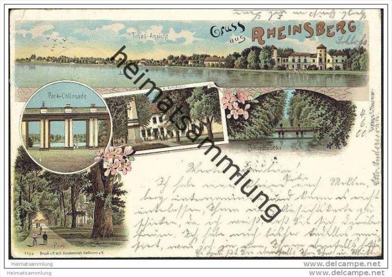 Rheinsberg - Park - Hotel zum Rathskeller - Billardbrücke - Total
