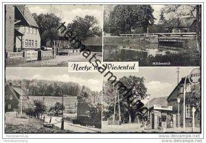21398 Neetze im Wiesental - Dorfstrasse - Mühlenteich - Schule - Shell Tankstelle 50er Jahre