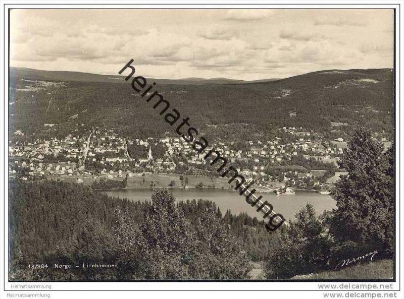 Lillehammer - Gesamtansicht - Foto-AK Grossformat 30er Jahre