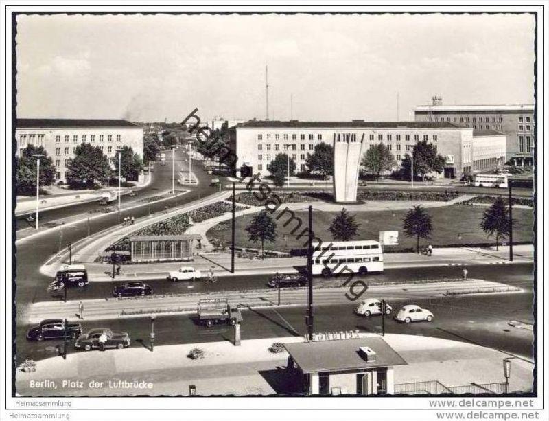 Berlin - Tempelhof - Platz der Luftbrücke - Foto-AK Grossformat