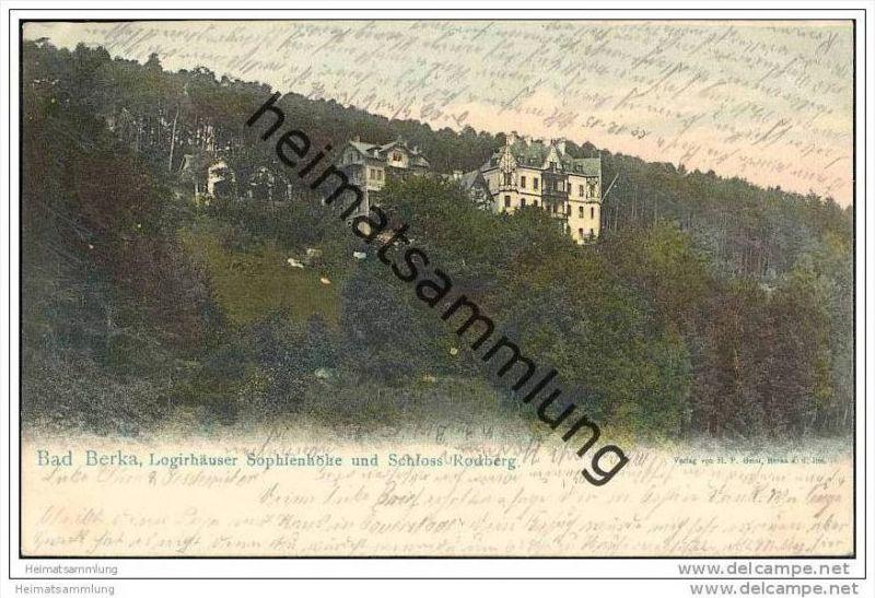 Bad Berka - Logierhäuser Sophienhöhe - Schloss Rodberg