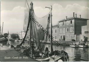 Grado - Canale del Porto - Foto-AK Grossformat 50er Jahre - Ediz. Foto Zuliani Grado