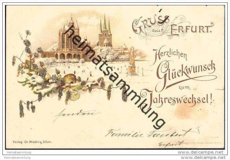 Erfurt - Dom - Neujahrskarte