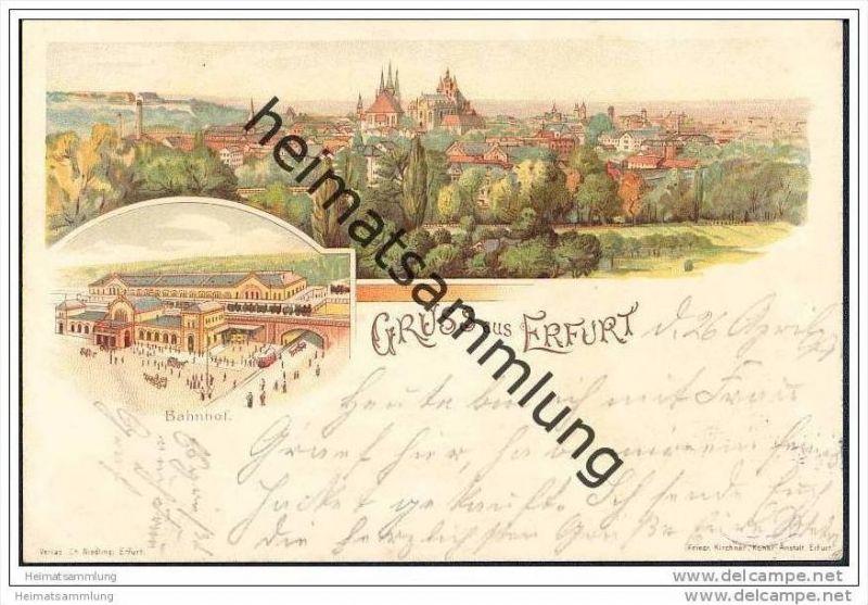 Erfurt - Gesamtansicht - Bahnhof
