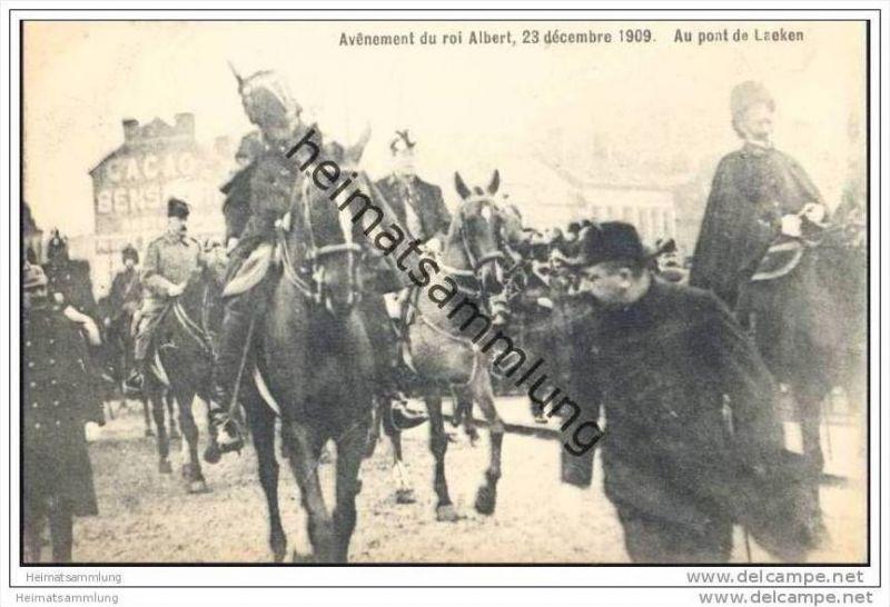 Avenement du roi Albert 23 décembre 1909 - Au pont du Laeken