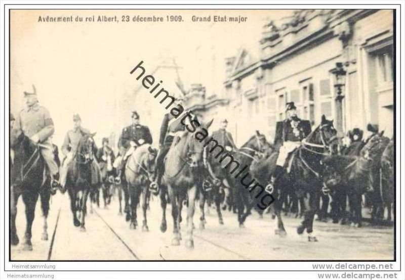 Avênement du roi Albert 23 décembre 1909 - Grand Etat major