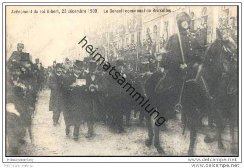 Avênement du roi Albert 23 décembre 1909 - Le Conseil communal de Bruxelles