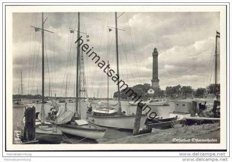 Ostseebad Osternothafen - Foto-AK 30er Jahre