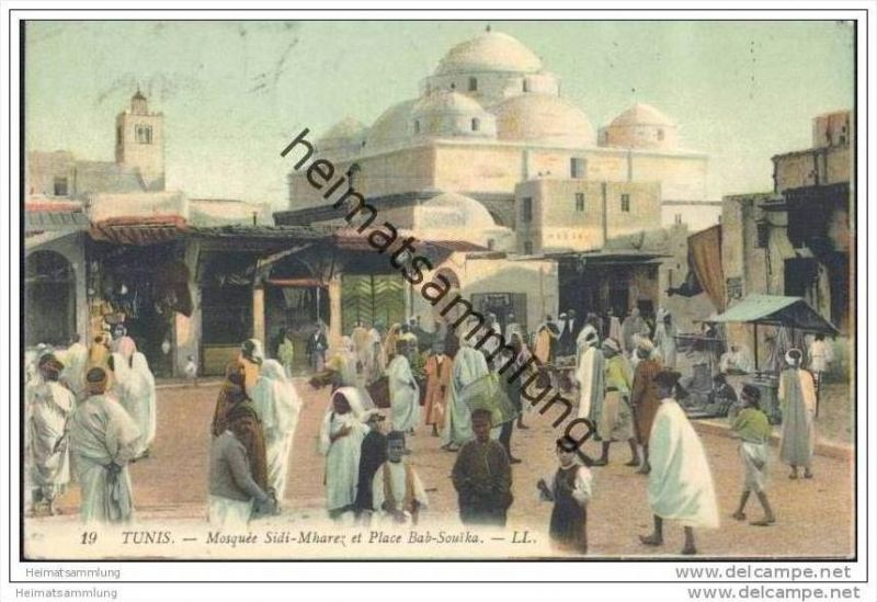 Tunis - Mosquée Sidi-Mharez et Place Bab-Souika