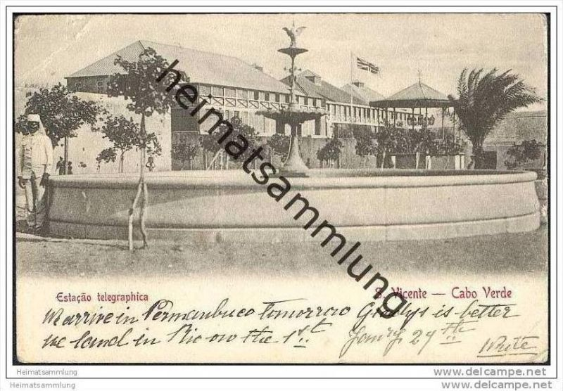 Cabo Verde - Cap Verde - S. Vicente - Estacao telegraphica
