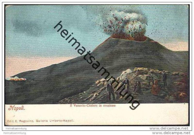 Napoli - Il Vesuvio-Cratere in eruzione