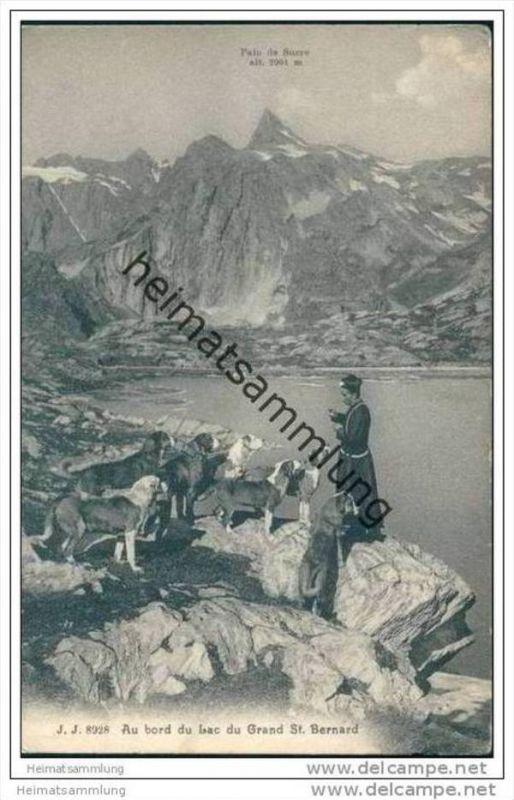 Au bord du Lac du Grand St. Bernard ca. 1910