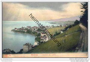 Montreux - coucher du soleil - 1905