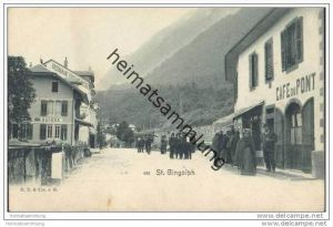 Saint Gingolph ca. 1900 - Cafe du Pont