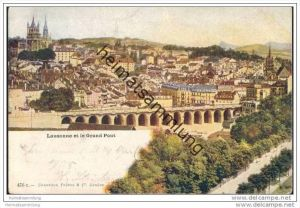 Lausanne et le Grand Pont