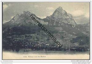 Schwyz und die Mythen ca. 1905