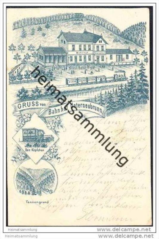 Unterneubrunn - Bahnhof - Das Köpfchen - Bahnpost