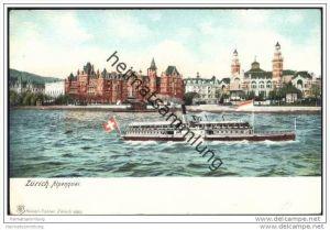Zürich - Alpenquai ca. 1900
