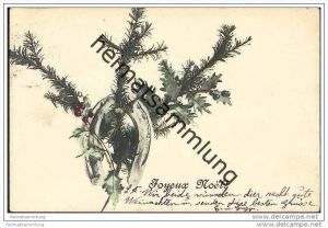 Weihnachten - Joyeux Noel - Hufeisen - Palme