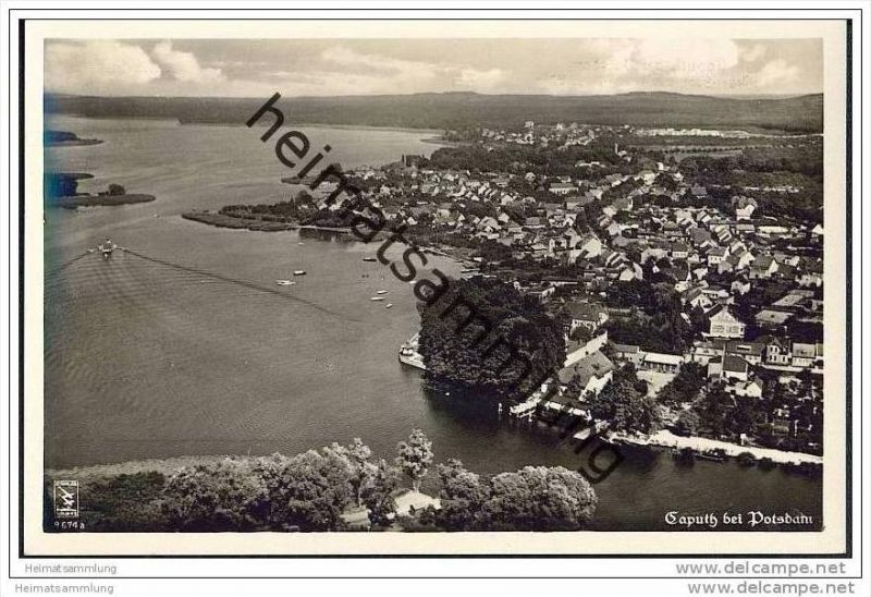 Caputh - Fliegeraufnahme - Foto-AK 30er Jahre