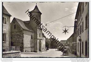 Crailsheim - Langestrasse - Spitalkirche - Foto-AK