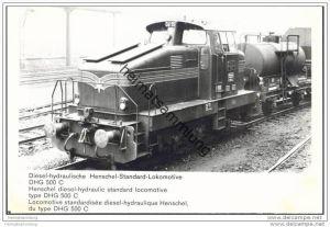 Lokomotive DHG 500 C - Foto 12cm x 18cm 60er Jahre