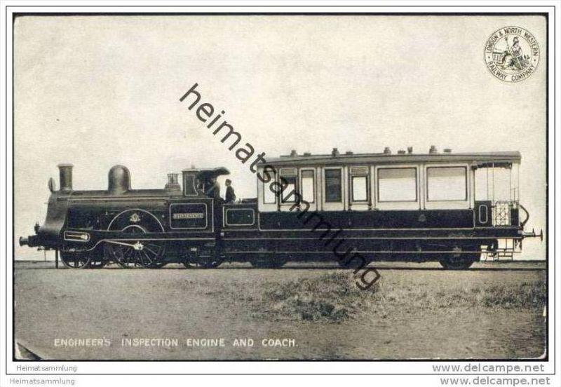 Eisenbahn - Engineer's inspection engine and coach - London & North Western Railway Company - England 1905