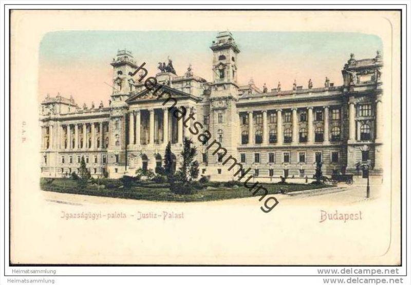 Budapest - Jgazsagügyi-palota ca. 1900 - Justiz-Palast