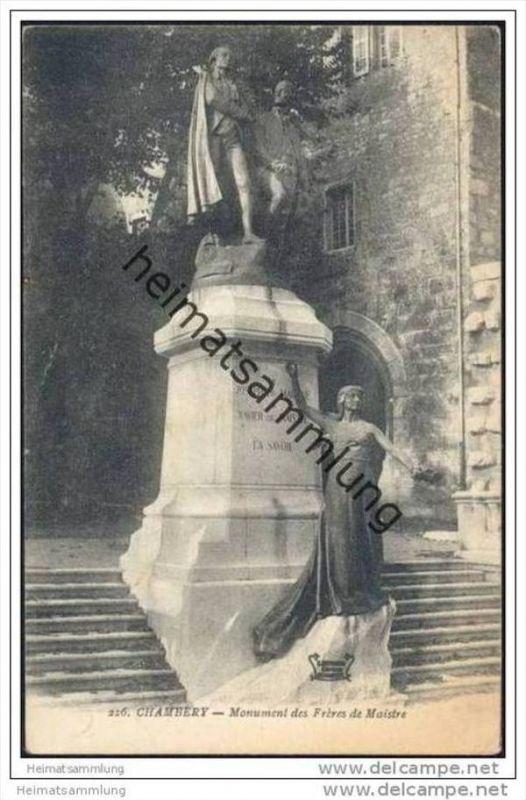 Chambery - Monument des Freres de Maistre