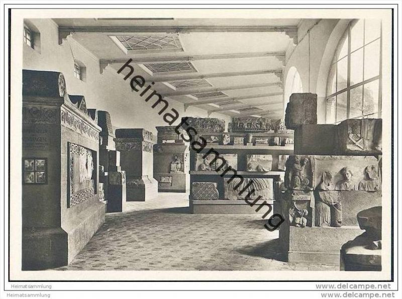 Trier - Provinzial-Museum - Neumagen-Saal - Foto-AK Grossformat
