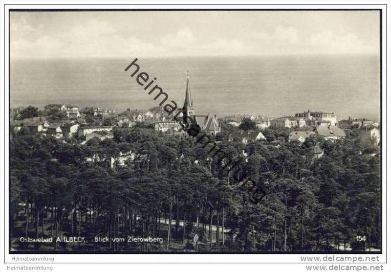 Ostseebad Ahlbeck - Blick vom Zierowberg - Foto-AK 30er Jahre