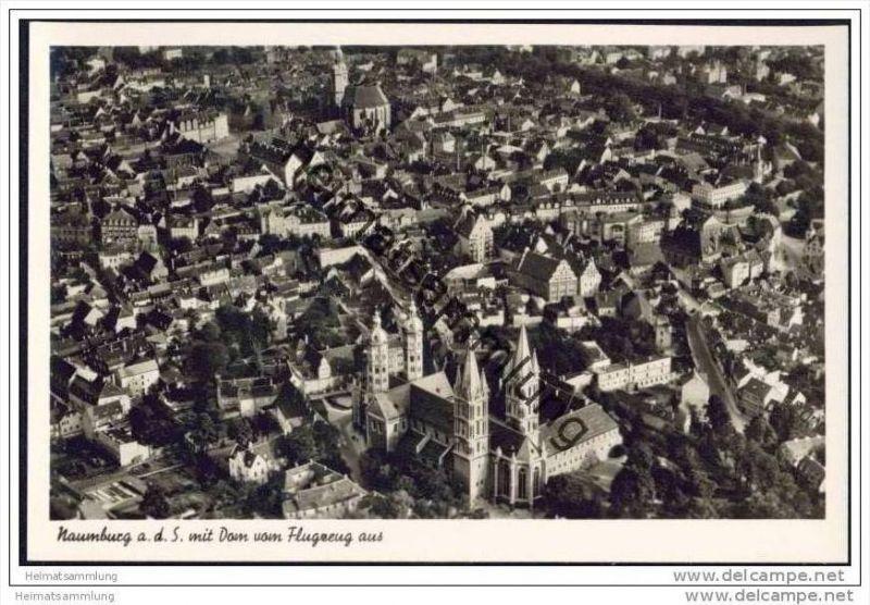 Naumburg an der Saale - Fliegeraufnahme Strähle Schorndorf - Foto-AK 30er Jahre