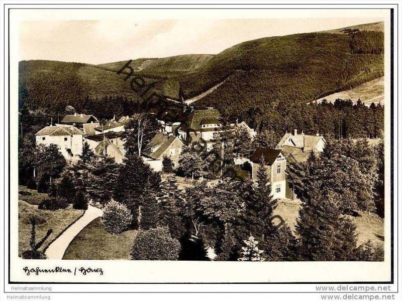 Hahnenklee - Dächerpanorama - Foto-AK Grossformat 30er Jahre