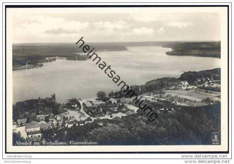 Altenhof am Werbellinsee - Fliegeraufnahme - Foto-AK 30er Jahre