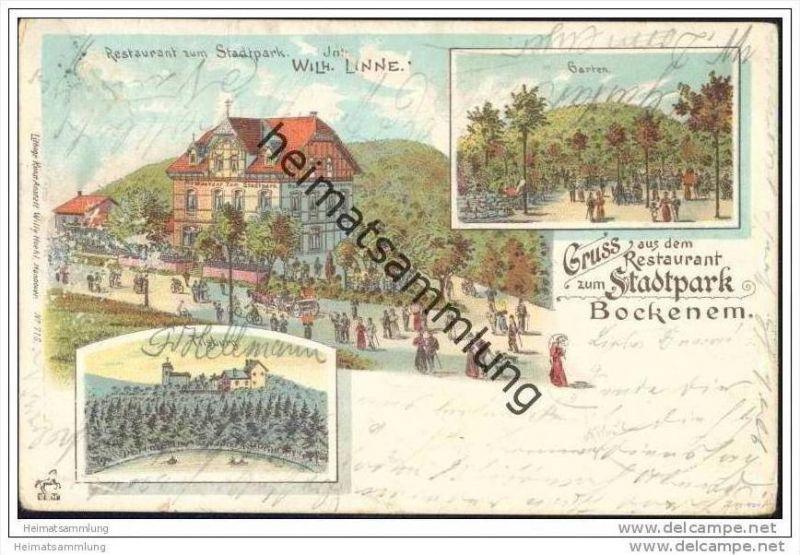 Bockenem - Gruss aus dem Restaurant zum Stadtpark - Inh. Wilhelm Linne