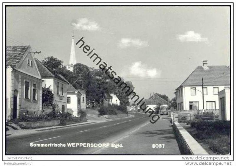 Weppersdorf - Gasthof und Fleischhauerei Georg Fuchs Foto-AK 60er Jahre