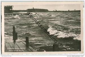 Waren - Sturm auf der Müritz - Foto-AK