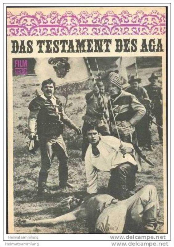 Film für Sie Progress-Filmprogramm 107/68 - Das Testament des Aga