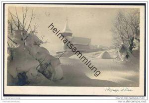 Davos im Winter - Foto-AK