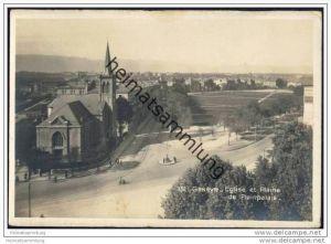 Geneve - Eglise et Plaine de Plainpalais - Foto-AK 20er Jahre