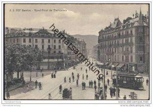 Geneve - Rond-Point de Plainpalais ca. 1910 - Strassenbahn