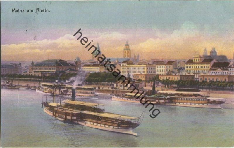 Mainz - Rhein - Schiffe - Verlag Knackstedt & Näther Hamburg