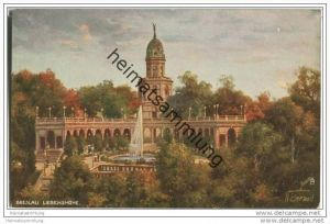 Breslau - Liebichshöhe - signiert N. Beraud - Oilette