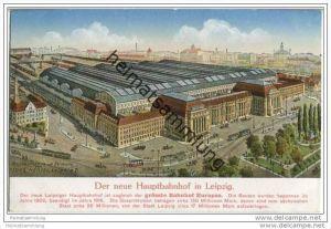 Leipzig - Der neue Hauptbahnhof - Naturaufnahme von Georg Hertel Leipzig