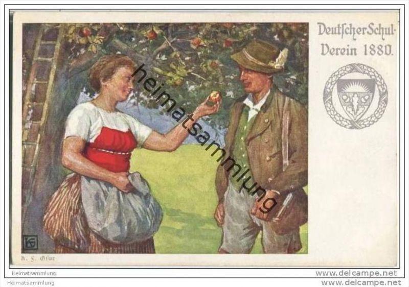 Frau mit Apfel - Karl Friedrich Gsur - Deutscher Schulverein