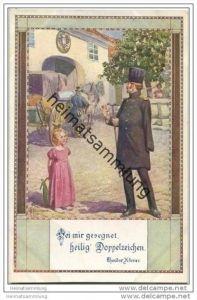 Sei mir gesegnet heilig Doppelzeichen - Postkutsche - Ostmark Bund deutscher Österreicher