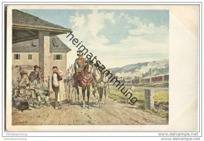 Postillion und Eisenbahn - Alois Greil - Ostmark Bund deutscher Österreicher