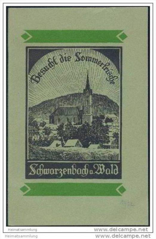 Schwarzenbach am Wald 1932 - 24 Seiten mit 8 Abbildungen