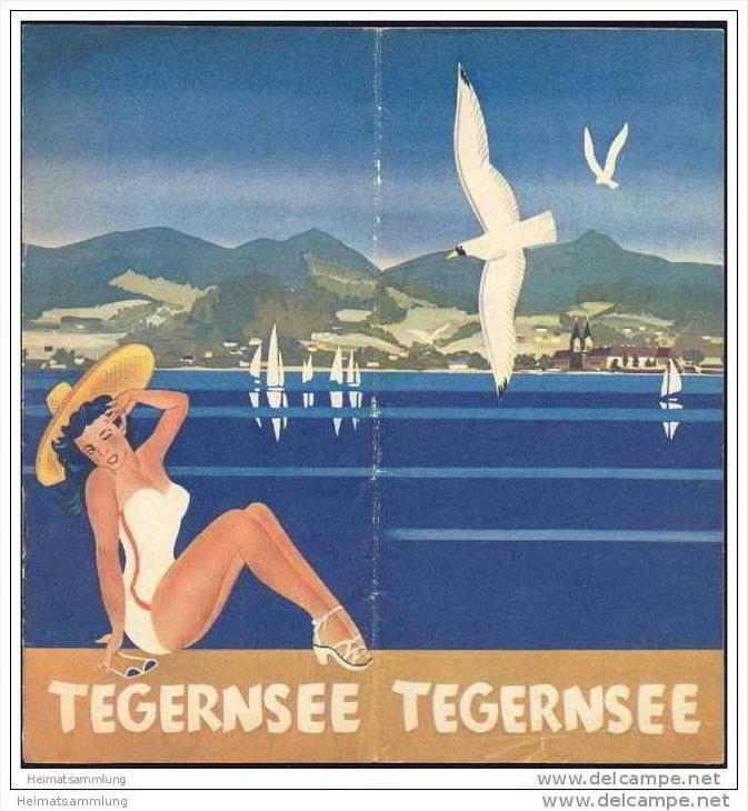 Tegernsee 1951 - 12 Seiten mit 23 Abbildungen