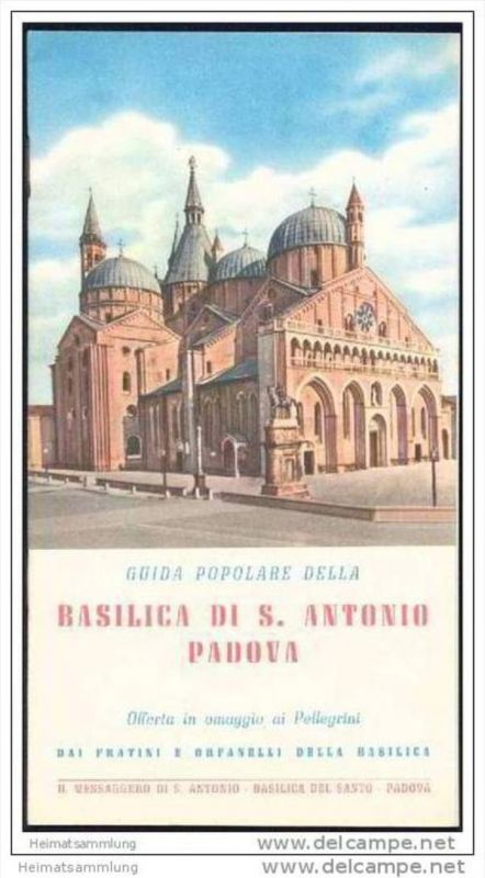 Basilica di S. Antonio Padova 50er Jahre- 14 Seiten mit 24 Abbildungen - in italienischer Sprache